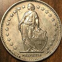 1969 SWITZERLAND 1 FRANC HELVETIA COIN PIÈCE DE SUISSE