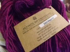 Manos Del Uruguay SILK /Extrafine Merino Hand Dyed yarn 50g Magenta #2600