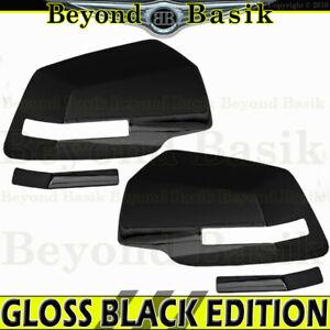 2007-2016 GMC Acadia 2009-2017 Chevy Traverse GLOSS BLACK Mirror Covers Trims