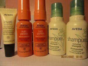 Aveda Shampure Shampoo, Invati  Hair Masque , Nutriplenish Leave In Spray NEW!