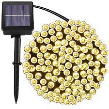 [72ft 200 Led] Solar Outdoor String Lights Fairy Outdoor Lighting, 8 Mode for