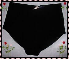L Dark Black NO SHOW Seamless Victorias Secret High Waist Brief Pantie RARE