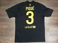 Barcelona FC Pique Away Jersey Black Shirt No.3 2011 2012 Nike Size L