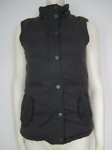 FAT FACE WOMENS OLIVE GREEN DOWN & FEATHER BODY WARMER GILET JACKET SIZE UK 8