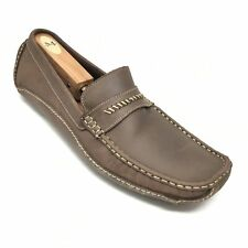 Men's Clarks England Girads Driving Moccasins Shoe Size 11.5 M Brown Leather F12