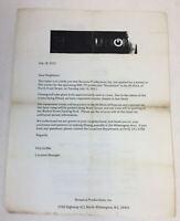 REVOLUTION tv show original paperwork ~ FILMING NOTICE/PERMIT
