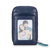 Pocket Slim Leather Wallet RFID Blocking Money ID Credit Card Case Holder Purse