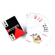 1pc red baccarat texas holdem plastic playing poker cards bridge game HC
