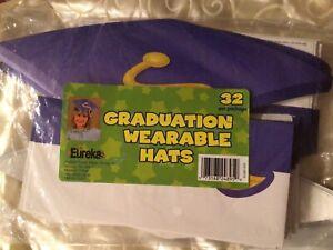 New Eureka 32pk Paper Graduation Party Cap Wearable Cut Out Hats Decor
