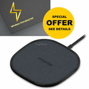 Mophie Wireless Fast Charging Pad Fabric 10W Universal Smartphones Qi enabled