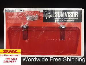 Vtg Style Clip-On Red Sun visor Austin Mini Morris Honda Z600 Citroen 2CV