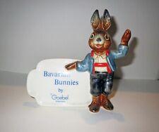 Antique Goebel Germany RARE BAVARIAN BUNNIES Porcelain Figurine ADVERTISING SIGN