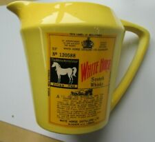 Vintage White Horse Blended Scotch Whisky Glasgow London Pitcher Decanter Yellow