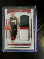 2019-20 PANINI NATIONAL TREASURES TYLER HERRO ROOKIE DUAL RELIC 83/99 MIAMI HEAT