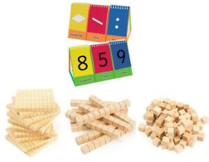 MAB Base Ten Maths Blocks for Student Place Value Activities INCLUDES Flip Stand