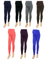 WOMENS MATERNITY LEGGINGS NEW LADIES OVER BUMP PLUS SIZE 10 - 26 SUMMER COLOURS