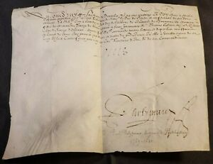 KING LOUIS XIII RARE AUTOGRAPH - DECEMBER 1614  LOUIS XIII König von Frankreich