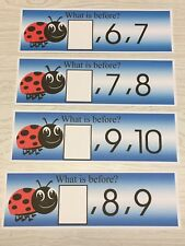 Lady Bug - Numbers - What comes next ? - 21 Laminated cards Activity Set