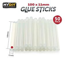 More details for 50pcs thick glue sticks 100 x11mm hot glue gun clear melting sticks replacement