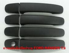 4 DOOR MATTE BLACK HANDLE COVER FOR ALL NEW FORD RANGER XTL 2012  PICK UP TRUCK