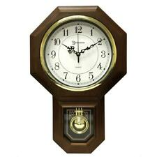18-1/2 in. x 11-1/4 Pendulum Westminster Chime Faux Wood Wall Clock