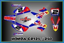 Honda CR125 250 02-12  SEMI CUSTOM GRAPHICS KIT CJONES