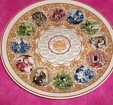 WEDGWOOD QUEENS WARE 1999 MILLENNIUM CALENDAR Literature Plate, England