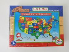 New Wood and Things USA Map Floor Puzzle Made in USA