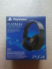 Sony PS4 PlayStation 4 Platinum Wireless Headset - 3001566 Surround Sound, Mic