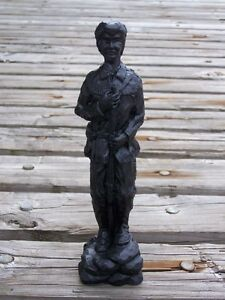 Frontiersman Hand-Crafted Kentucky Coal Figurine ~ Folk Art ~ New