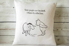 """Some people care too much.. - 16"""" cushion cover Vintage Winnie The Pooh Nursery"""
