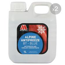 Millers Oils Alpine Antifreeze BT BLUE Concentrate - 2 x 1 Litre 2L