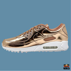 WM US 13.5 MN US 12 Nike Air Max 90 SP Shoes Metallic Pack Rose Gold BST DL WMO!