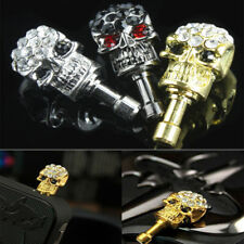 CRYSTAL SKULL  ANTI DUST PLUG EARPHONE DUSTPROOF STOPPER COVER CAP FOR MOBILES