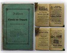 Führer durch Chemnitz und Umgebung um 1885 Geografie Ortskunde Landeskunde xy