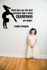 "Gabby Douglas Gymnastic Quote | Champions Vinyl Wall Decal / Sticker 16""x12"""