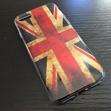 iPhone 7 & iPhone 8 - TPU Rubber Gummy Glitter Case Cover UK FLAG / UNION FLAG