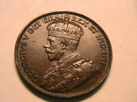 1919 Canada Ch. XF+/AU Lustrous One Large Cent King George V Canadian Penny Coin