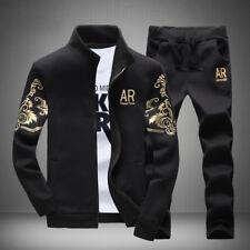 Nueva chaqueta de hombre 2Pcs/Set + pantalones chándal Sport Jogging Atlético Ropa Deportiva Casual