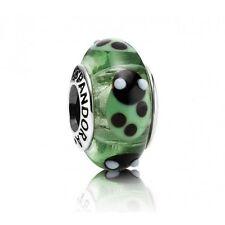 790653 Green Ladybugs Retired Pandora Charm S925 ALE, Murano Glass