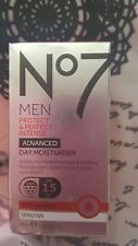 �Ÿ€No7 Men's Protect & Perfect Intense Advanced Day Moisturiser 50ml BNIB RRP £25