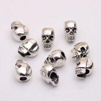 DIY bracelet antique silver metal spacer beads skull jewelry making
