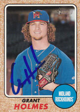 GRANT HOLMES MIDLAND ROCKHOUNDS SIGNED 2017 TOPPS HERITAGE MINOR LEAGUE CARD