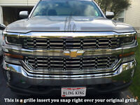 2016-2018 Chevy Silverado 1500 chrome mesh grille grill insert overlay LS LT WT