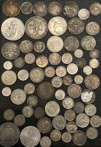 Huge Silver World Coin Lot From Personal Collection 1800s 1900s