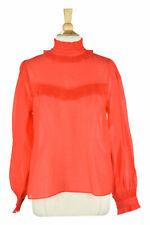 H&M Women Tops Blouses 14 Orange Polyester