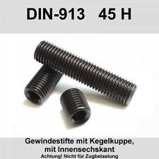 8x Madenschraube M10 L=12mm DIN 913 Imbus Stahl Verzinkt Innensechskant