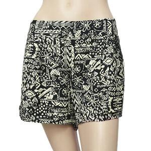 Ecote Urban Outfitters Printed Pocket Black Shorts Boho Summer L NWT 179898