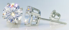 .25 ct tw Screwback Earrings Top Russian Quality CZ Moissanite Simulant .925 SS