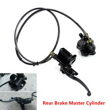 Black Rear Disc Brake Master Cylinder Assembly with Caliper for 50/90/110/125cc